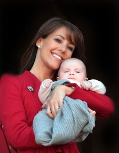 Yoursweetremedy:  Princess Marie of Denmark with daughter Princess Athena