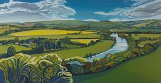 The Hartslock View is an original oil painting on board by Anna Dillon. Hartslock Nature Reserve is located by The Thames between Goring-on-...
