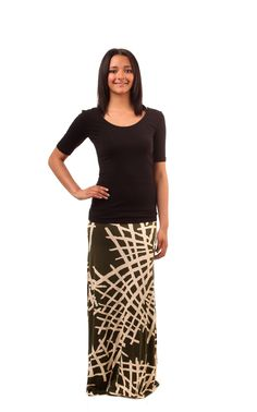 Army Green Bamboo Maxi Skirt from modbod $19.99