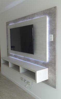 Room & Kitchen designs | Panel de TV con detalle de iluminación LED