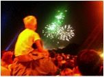 a boy watching fireworks