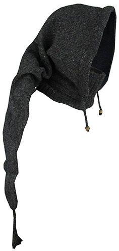 Little Kathmandu Woolen Fleece Lined Pixie Pointed Long Snood Hood  Neckwarmer Wizard Cap Hat charcoal  Amazon.co.uk  Clothing eea938537683