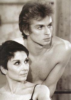 Women mean death to young men: Zizi Jeanmaire and Rudolf Nureyev in 'Le Jeune Homme et La Mort'