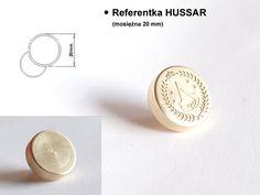 Referentka grawerowana HUSSAR (mosiężna 20 mm) #referentka, #referentki #pojemniki_plombowane