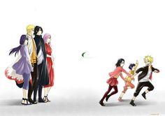 Naruto Shippuden, Uzumaki Naruto, Hinata, Boruto, Himawari, Uchiha Sasuke, Sakura, Sarada