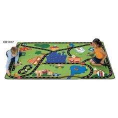 FREE SHIPPING! Cruisin' Around the Town: Kids will delight in cruising to their favorite destinations on this wonderful playtime rug designed to use with block play.