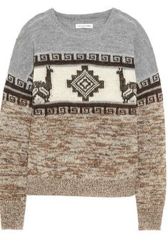 A cozy knit fair isle sweater is always a gift hit // Etoile Isabel Marant Remington Sweater Apres Ski Outfits, Cozy Sweaters, Sweater Weather, Knitwear, Winter Fashion, My Style, How To Wear, Fashion Trends, Clothes