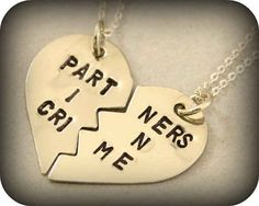 Partners in Crime Necklaces, $25 - this is so adorable! Definitely one of the better pieces of two-part jewellery I've seen