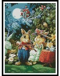 Rabbit playing the Violin