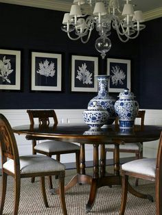 Angela Camarda For Lillian August Photography By Stacy Bass Love The Contrast Of Navy White And Dark Wood Light Floor