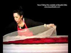 Beautiful Silks: Nuno Felting - Tutorial Marina Shkolnik Youtube.com/user/BeautifulSilks/videos