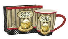 "Gifts Single ""Coffee Time"" Ceramic Cafe Mug 17 Oz #CoffeeTime"