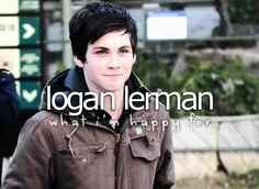 Logan Lerman. #WhatImHappyFor