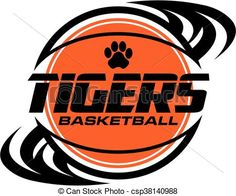 Vector - tigers basketball - stock illustration, royalty free illustrations, stock clip art icon, stock clipart icons, logo, line art, EPS picture, pictures, graphic, graphics, drawing, drawings, vector image, artwork, EPS vector art