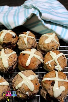 A fun twist on the traditional hot cross bun - and this one's great for cooking with kids.