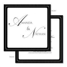 Auravella urban stripes wedding invitations