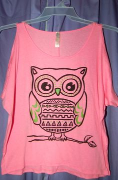 Lockerz Cut Out Shoulder Owl Top - $15.00