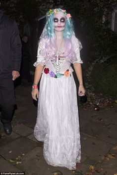 Corpse bride: Lily Allen, 31, seemed to have forgotten about her recent woes when she atte...