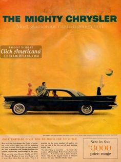 The Mighty Chrysler - Most Glamorous Car in a Generation.  ....personal opinion, you park one of these next to a 57 Chev and it makes the Chev look very boxy.
