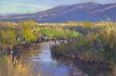 A Touch of Gold by Richard McKinley Pastel ~ 6 x 9