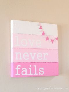 See how I made this Faux Wood Valentines Day Sign- you can do it too! Valentines day ideas, #valentine