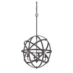 Savoy House Dias Orb Pendant Light in English Bronze 7-4353-4-13