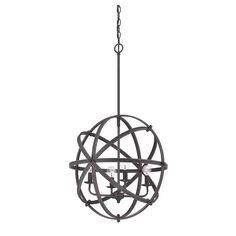 Savoy House Dias Orb Pendant Light in English Bronze 7-4353-4-13