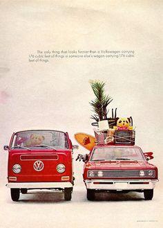 Vintage VW Van Print Ad.