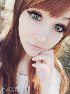 These green circle lenses although donot sport any dominant limbal ring; the enlargement produced by I.Fairy Pon Pon green is still very str...