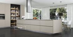 Cozinha com MDF Areia da Linha Colors. #MDF #decoraçãoMDF #decoração #DesignInteriores #padrõesMDF #homedecor #decoração #peçasMDF #cozinhaMDF