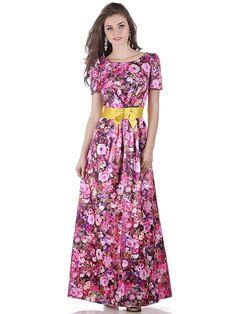 Длинное цветочное платье от Olivegrey / Long vintage dress by Olivegrey