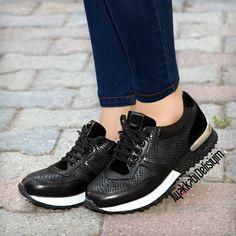 Siyah Spor Ayakkabı #sneakers #black #shoes #sport