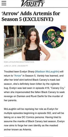 #Arrow #Season5 : Faux Canary to return as new archer hero, 'Artemis'