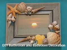Magical DIY Crafts With Seashells is part of Beach crafts Frames - If you have been beach bound this summer, especially with little ones, I am sure a load of collected seashells has made the travel back home with you For Seashell Frame, Beach Frame, Seashell Art, Seashell Picture Frames, Glass For Picture Frames, Sea Crafts, Diy And Crafts, Arts And Crafts, Crafts With Seashells