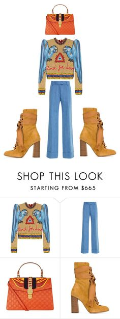 """""""Untitled #1192"""" by christawallace ❤ liked on Polyvore featuring Gucci, Anna Sammarone and Chloé"""