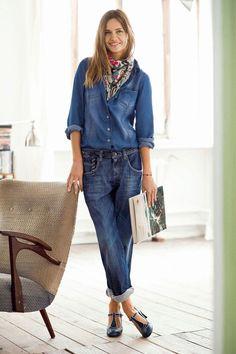 22be4e986889 17 meilleures images du tableau chemise jean   Denim shirt outfits ...