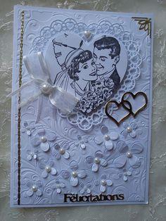 carte de félicitations pour un mariage par Athéna