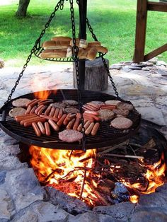 10+ Awesome Campfire Barbacue Grill Ideas