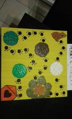 Zelfgemaakt ganzenbord gebaseerd op het boek 'wij gaan op berenjacht' Winter Fun, Preschool Crafts, Stage, Bear, Carnival, Bears, Locs