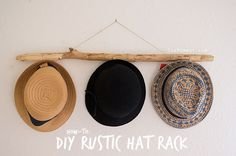 How-to: DIY rustic branch hat rack | TheMombot.com