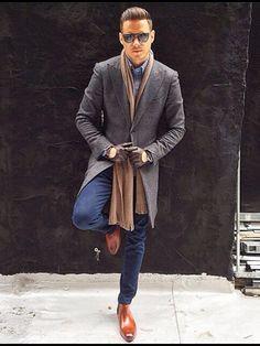 # fashion for men # men's style # men's fashion # men's wear # mode homme Gentleman Mode, Gentleman Style, Sharp Dressed Man, Well Dressed Men, Stylish Men, Men Casual, Casual Winter, Winter Style, Mode Man