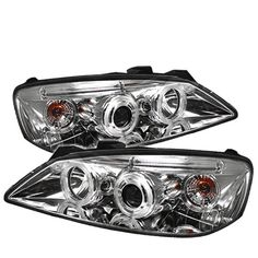 Spyder Pontiac Projector Headlights Ccfl Halo Led Replaceable Leds Chrome High Included Low These Tail Light