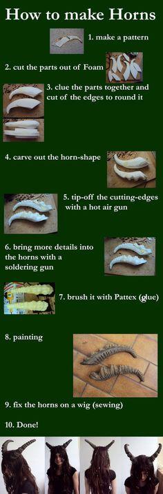 Fursuit tutorial! How to make Horns!