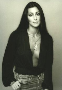 Cher photographed by Norman Seef, 1975.