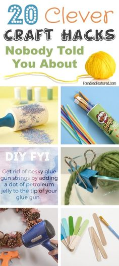 A fabulous list of awesome craft hacks! I wish I had known about these tricks a long time ago, especially the hot glue gun tip.