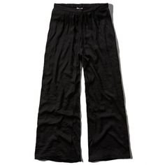 Abercrombie & Fitch Drapey Wrap Palazzo Pants ($19) ❤ liked on Polyvore featuring pants, abercrombie, navy, wrap pants, palazzo trousers, wide leg palazzo pants, wide-leg pants and elastic waist pants