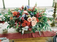 basket of fresh flowers | Trent Bailey Photography