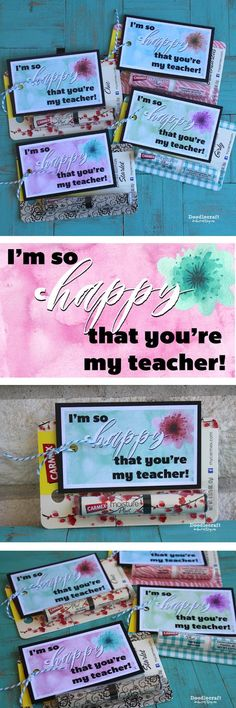 So cHappy Teacher Appreciation Gifts with Free Prinatble! #carmex #ad #freeprintable #watercolor