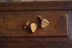 Gold-plated vintage French triangular cufflinks