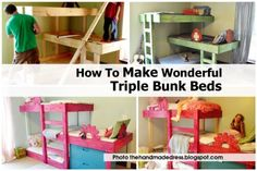How To Make Wonderful Triple Bunk Beds